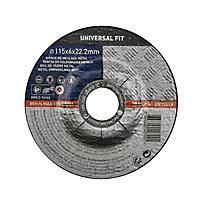 Disque de meulage métal 115x6x22,2mm Universel fit