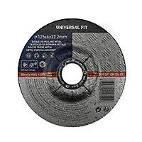 Disque de meulage métal 125x6x22,2mm Universel fit