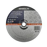 Disque de meulage métal 230x6x22,2mm Universel fit