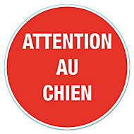 """Disque de signalisation """"Attention au chien"""" Ø17"""