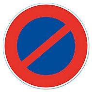 """Disque de signalisation """"Stationnement interdit"""" ø17 cm"""