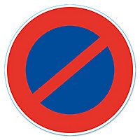 """Disque de signalisation """"Stationnement interdit"""" ø28 cm"""