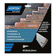Disque diamant discontinu Norton 230x22,2mm
