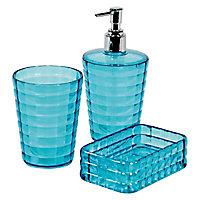Distributeur de savon plastique bleu Cooke & Lewis Manakin