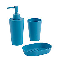 Distributeur de savon plastique bleu Cooke & Lewis Palmi