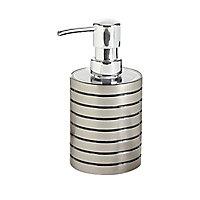 Distributeur de savon plastique effet métal chromé Cooke & Lewis Kribi
