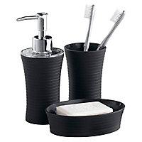 Distributeur de savon plastique noir Form Cocoon