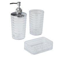 Distributeur de savon plastique transparent COOKE & LEWIS Dvina