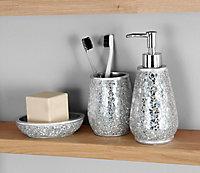 Distributeur de savon résine argent Cooke & Lewis Digha
