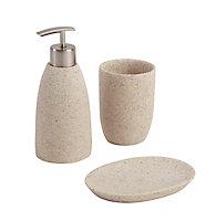 Distributeur de savon résine beige COOKE & LEWIS Balka