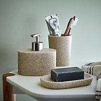 Distributeur de savon résine beige COOKE & LEWIS Jubba