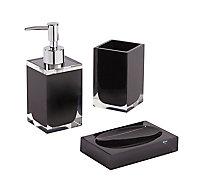 Distributeur de savon résine noir Cooke & Lewis Capraia