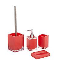 Distributeur de savon résine rouge COOKE & LEWIS Capraia