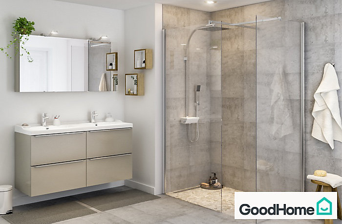 Awesome rideau salle de bain castorama contemporary - Paroi douche italienne castorama ...
