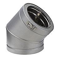 Elément de coude ø 150 mm x 45° Poujoulat