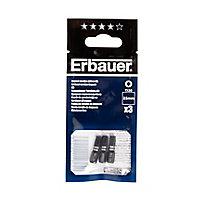 Embout de vissage torsion impact TX30 25mm Erbauer - 3 pièces