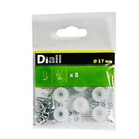 Embout en plastique Diall 17mm x8, transparent