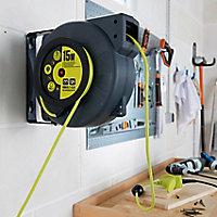 Enrouleur automatique de câble mural H05VVF 3G 1,5mm² 15m