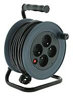 Enrouleur de bricolage 3G1mm² 15 m Gris