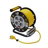 Enrouleur de bricolage Diall HO5VVF 3G1.5mm² 25m