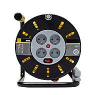 Enrouleur de bricolage Diall HO5VVF 3G1.5mm², 50m