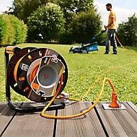 Enrouleur de jardin Diall 22/3M H05VVF 3G1 5mm²