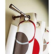 Ensemble barre à rideau extensible Colours Amadeus noir mat 155/280 cm