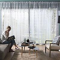 Ensemble barre à rideau extensible Colours Barell chrome 200/360 cm