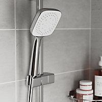 Ensemble de douche avec barre réglable chrome GoodHomeTeesta