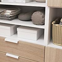 Ensemble de meubles de rangement sous pente et/ou comble blancs et effet chêne GoodHome Atomia H. 187,5 x L. 187,5 x P. 35 cm