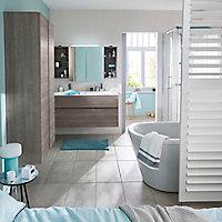 Ensemble de salle de bains Calao 120 cm fumé plan résine