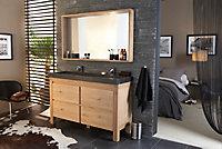 Ensemble de salle de bains Harmon 140 cm meuble sous-vasque + plan vasque résine