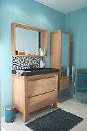 Ensemble de salle de bains Harmon 90 cm meuble sous-vasque noir + plan vasque résine