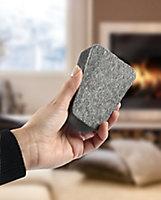 Eponge nettoyage à sec pour les vitres de poêle ou cheminée Dixneuf Vit'net