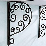 Equerre aluminium noir Form Arabesque 18 X 27 cm
