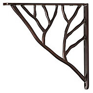 Equerre métal rouille époxy Form Branche 18,5 x 18,5 cm