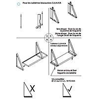 Equerre triangle métal cuivre brillant Form Cleaver 33,2 x 19 cm