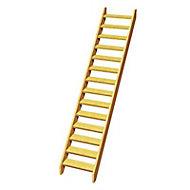 Escalier droit bois Normandie l.74,5 cm 14 marches sapin