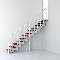 Escalier droit métal et bois Magia 90 l.70 cm 10 marches blanc/cerisier