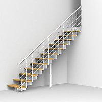 Escalier droit métal et bois Magia 90Xtra l.90 cm 12 marches blanc/chêne