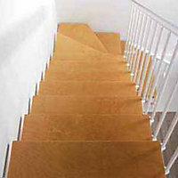 Escalier en L métal et bois Magia 90 l.70 cm 14 marches blanc/clair