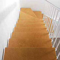 Escalier en L métal et bois Magia 90 l.80 cm 10 marches blanc/clair