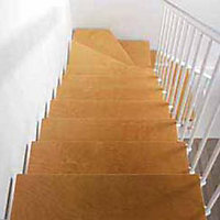 Escalier en L métal et bois Magia 90 l.90 cm 14 marches blanc/clair