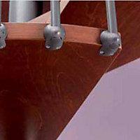 Escalier métal et bois Magia 70 Ø130 cm 11 marches gris fonte/cerisier