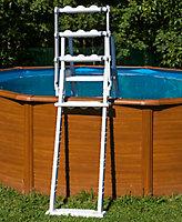 Escalier moulé pour piscines de hauteur 1,20 à 1,32m
