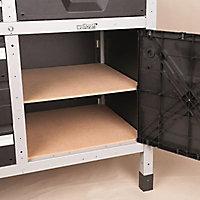Etabli d'atelier Wolfcraft 113 cm 2 tiroirs + 2 portes