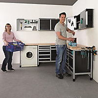 Etabli d'atelier Wolfcraft 113 cm 5 tiroirs + 1 porte