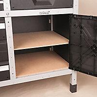 Etabli d'atelier Wolfcraft 161 cm 6 tiroirs + 2 portes