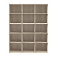 Etagère bibliothèque effet chêne H. 187,5 x L. 150 x P. 35 cm