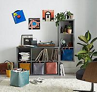 Etagère modulable 6 cubes coloris gris Mixxit
